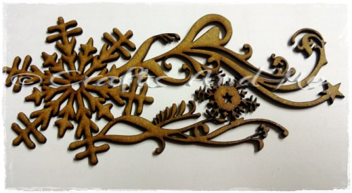 *New*Wooden Flourishes-Snowflake Swirl