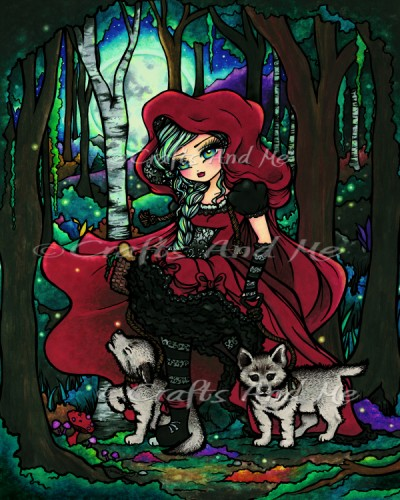 *New*Red Riding Hood Digital Stamp