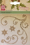 *New*cArt-Us Christmas Rhinestone flourishes-Gold