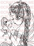 *New*Friends of The Sea Unmounted Rubber Stamp