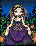 Queen of Halloween-Unmounted Rubber Stamp