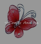 *New*Burgandy Butterfly