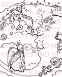 *New*Moonlight Wishes Unmounted Rubber Stamp