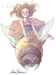 Thumbelina Faith-Unmounted Rubber Stamp